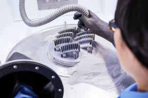 TRUMPF was commissioned by Toolcraft to 3D print a vane used in aircraft engines. Total cost savings: 20 percent (Source: Trumpf Group)