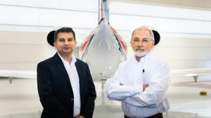 Auburn University is using a $3 million grant from the Federal Aviation Administration to improve commercial air travel through the use of 3D-printed (or additively manufactured) metal components. Pictured, from left, are Auburn University faculty Nima Shamsaei and Steve Taylor.