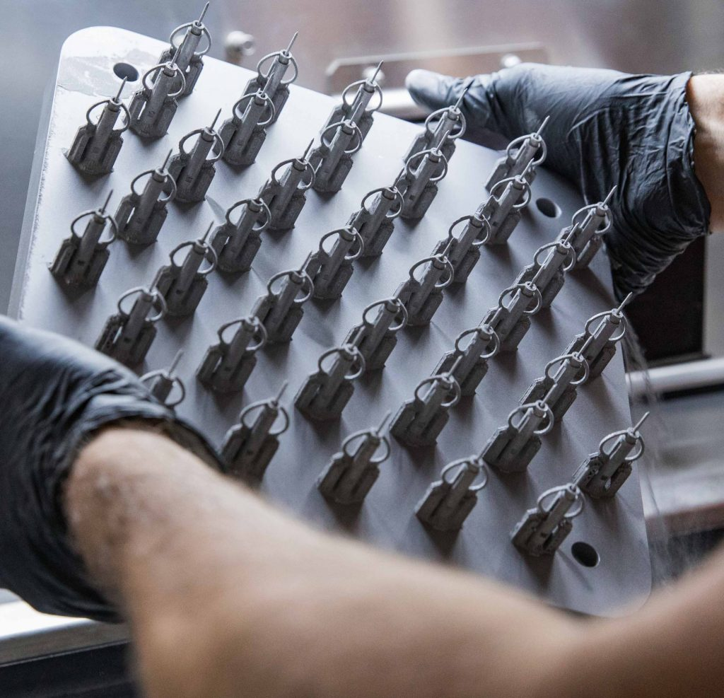 Parts made from Inconel 718 metal powder ready for finishing (Photo: Protolabs)