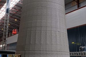 The world's first ever 3D printed concrete windmill tower with 10m height