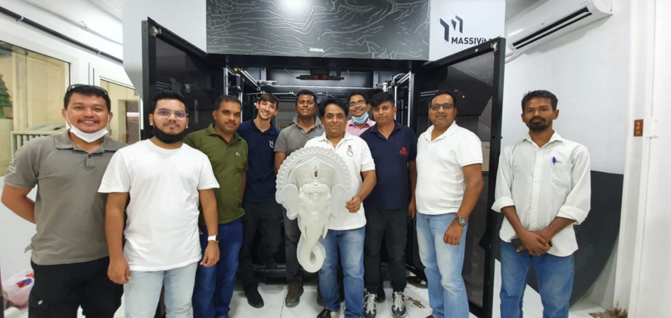 Out of the Box Installs the regions first MASSIVIT 3D Printer