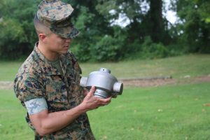 Marine Corps 3D print a rocket headcap for mine-clearing missions